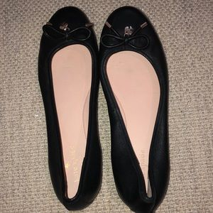 Kate Spade New York black leather flats